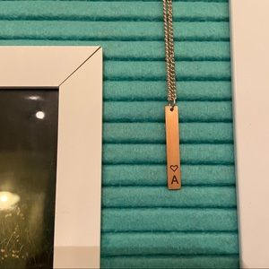 """Jewelry - 🆕 Dainty Bar Letter Initial """"A"""" Necklace"""